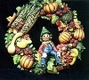 Wreath - Fall Harvest 16 D BISQUE (Unpainted)